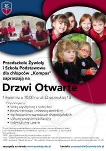 ulotka przedszkole i szkola drzwi otwarte 1 kwietnia